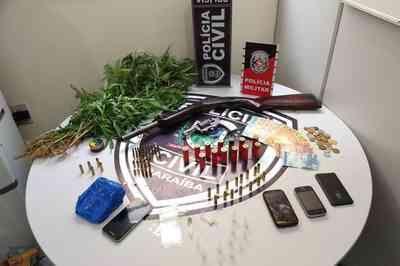 Operação Coringa prende trio com plantas de maconha e arma na Paraíba