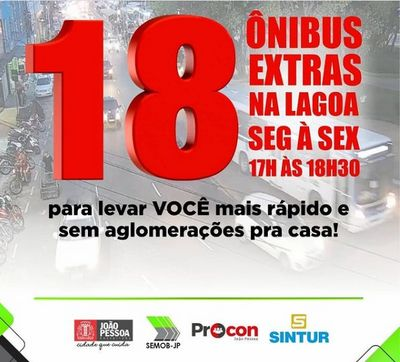 Covid: João Pessoa terá ônibus extras circulando de segunda à sexta
