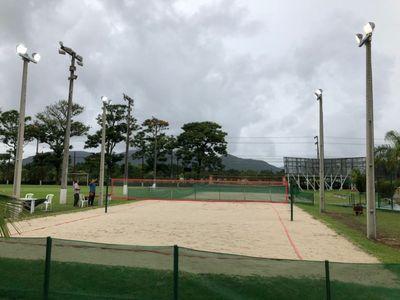 Quadra de beach tennis. Imagem ilustrativa