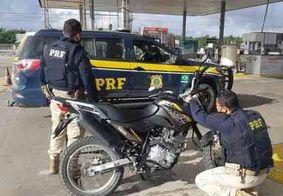 Motocicleta roubada em Pernambuco é recuperada pela PRF na Paraíba