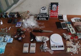 Polícias Civil e Militar prendem foragido da justiça e mais cinco suspeitos de tráfico na PB