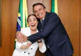 Após dizer sim a Bolsonaro, Regina Duarte comemora com amigos em hotel em Brasília