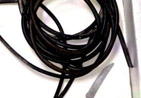 Fios e cabos roubados do estádio Almeidão