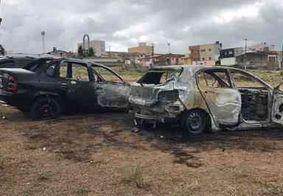 Carros são incendiados em estacionamento de delegacia em Santa Rita