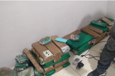 Polícia apreende mais de 60 quilos de maconha durante operação