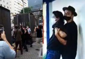 Confira o momento da prisão do homem que invadiu sede da Globo e ameaçou repórter