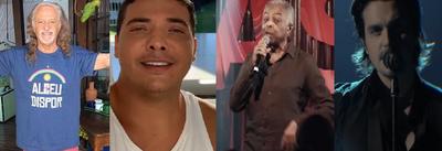 Alceu Valença, Wesley Safadão, Gilberto Gil e Luan Santana são atrações nas lives deste sábado (20)
