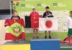 Paraibano conquista dois ouros e bate recorde nas piscinas dos Jogos Escolares da Juventude
