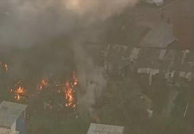 Incêndio destruiu a comunidade