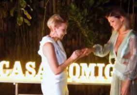 Vitória Strada divulga vídeo do pedido de casamento feito por Marcella Rica; veja