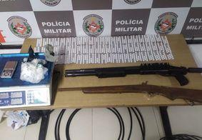 Material apreendido na operação da Polícia Militar