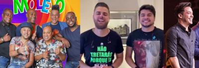 Molejo, Zé Neto & Cristiano, Wesley Safadão e Raça Negra são atrações das lives no fim de semana