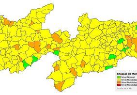 Paraíba apresenta ausência de municípios na bandeira vermelha, diz levantamento