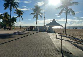 Polícia e Sedurb recolhem equipamentos de academia ao ar live na Praia de Cabo Branco