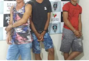 PM prende grupo suspeito de cometer assaltos e homicídios em Pedras de Fogo, na PB