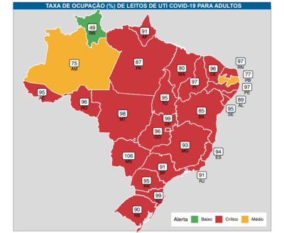PB tem menor ocupação de leitos de UTI do NE, diz Fiocruz