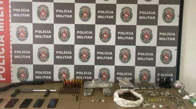 PM apreende armas, munições e 5 kg de drogas em João Pessoa