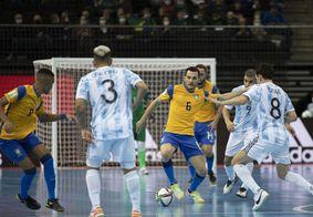 Brasil perde para Argentina e adia sonho da Copa do Mundo de Futsal