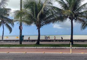 Orla da praia de Manaíra, em João Pessoa.