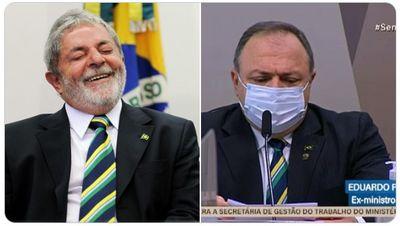 Pazuello usa gravata igual a de Lula e ex-presidente brinca: 'chateado'