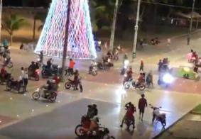 Largo Tambaú é invadido por motociclistas na madrugada de Natal