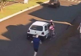 Vídeo | Preso suspeito de apalpar e derrubar ciclista no Paraná