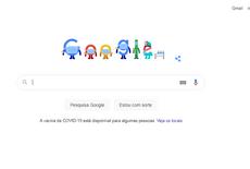Doodle do Google incentiva a imunização nesta terça-feira (22)