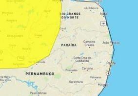 Aviso de chuvas intensas em mais de 70 cidades da Paraíba é renovado pelo Inmet