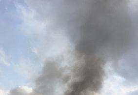 Fumaça assusta moradores em bairro de João Pessoa
