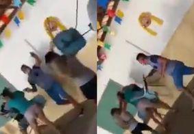 Vídeo | Briga com cadeiradas em fila de vacinação na PB viraliza na web