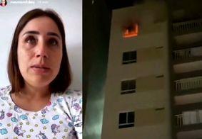 Incêndio atinge apartamento de influenciadora digital, em Campina Grande