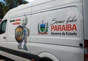 Veículos prontos para a vacinação na Paraíba