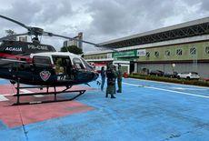 Motociclista é resgatado de helicóptero após colisão frontal, na PB