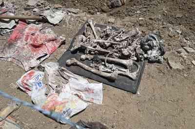 Ossos humanos são encontrados durante construção de piscina em Campina Grande