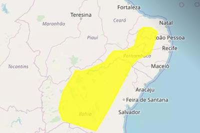 Confira a lista de alerta do Inmet para perigo potencial de baixa umidade em mais de 90 cidades da PB