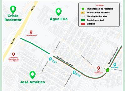 Mudanças na Avenida Hilton Souto Maior, em João Pessoa