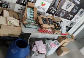 Polícia apreende uma tonelada de materiais explosivos e prende suspeitos, na PB