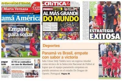 """""""Empate com sabor de vitória"""", diz imprensa do Panamá sobre partida contra o Brasil"""
