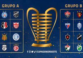 Sorteio de grupos da Copa do Nordeste 2021