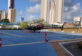Homem é socorrido pelo helicóptero Acauã após acidente em Guarabira