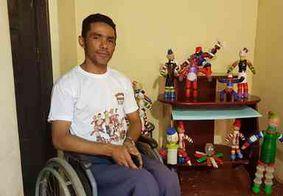 Paraibano que 'viu a morte de perto' supera deficiência e se destaca com arte sustentável