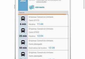 Usuários podem conferir horários dos ônibus através de aplicativo