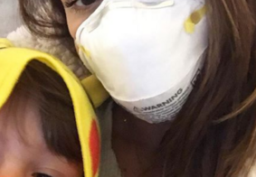 """Fernanda Machado expõe momento difícil com o filho em área de incêndio: """"Triste e preocupante"""""""