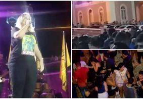 Gás lacrimogêneo faz Marília Mendonça abandonar palco durante show