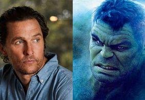 Matthew McConaughey já teve interesse em interpretar Hulk na Marvel