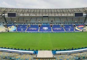 Estádio do Maracanã pronto para a final