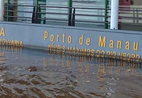 Cheia em Manaus atingiu o maior nível neste sábado