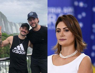 Vídeo: Diego Hypólito e namorado participam de louvor com Michelle Bolsonaro