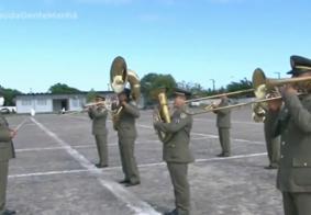 Veja a apresentação da banda da Polícia Militar em homenagem à Independência do Brasil