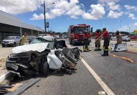 Motorista sobrevive a acidente impressionante na BR 230